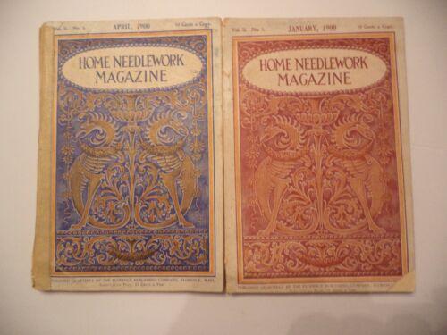 January and April 1900 Home Needlework Magazine