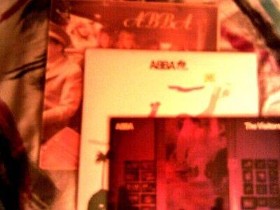 ABBA (3) LPS...THE ALBUM, VISITORS, I DO I DO (UK) LP ALL VG+!
