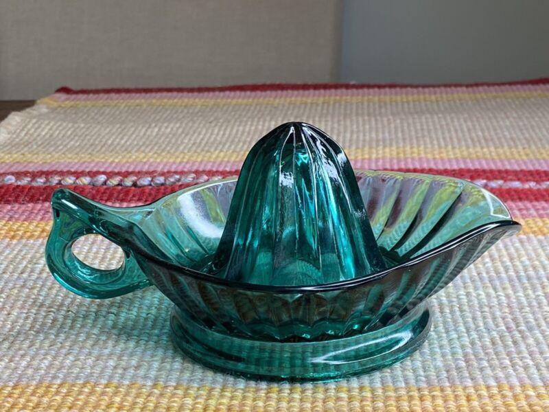 Jeannette Turquoise Aquamarine Green Lemon Juicer Reamer