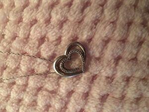 NEW PRICE Diamond heart necklace