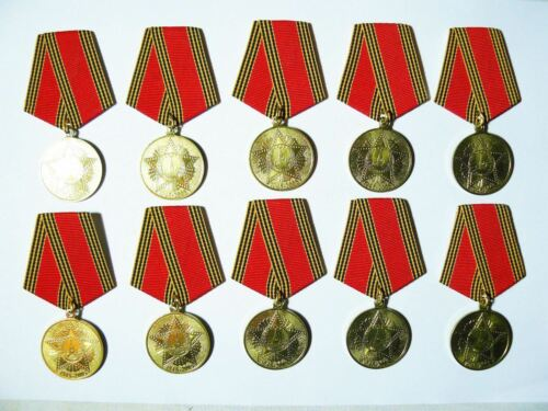Lot 10 Award Veteran Anniversary Medals 60th Year of WW2 Victory USSR