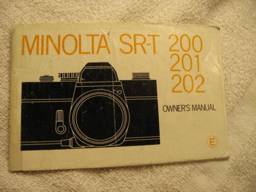 MINOLTA 200-201--202 INSTRUCTIONS FREE SHIPPING