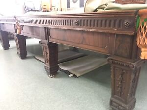 antique snooker 12' table ..Superbe  table d'exception A VENDRE