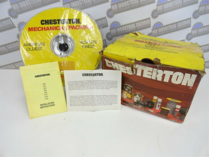 "Chesterton 1725 (8mm) 5/16"" 4.9lb FOOD PROCESS PACKING 0033740 (NEW in BOX)"