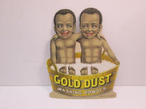 Gold Dust Washing Powder The Twins Die Cut Cardboard Ad Antique Americana