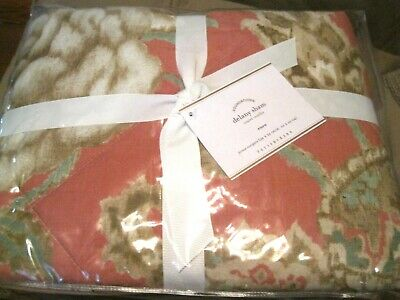 POTTERY BARN Foundations Delany Ikat Sham Euro 26x26 Terra Cotta Tan NIP