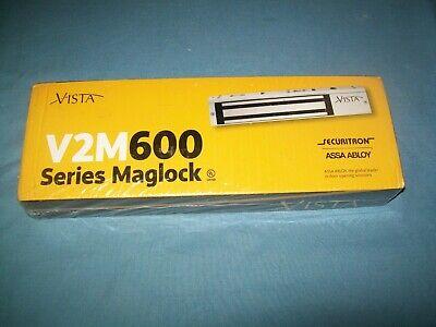 New Securitron Vista Series Maglock V2m600 Assa Abloy Dual Voltage 600 Lb Lock