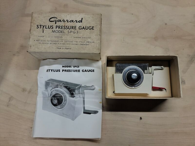 Garrard Stylus Pressure Gauge Model SPG3