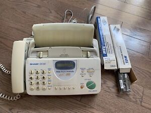 Fax machine with 3 thermal ribbons