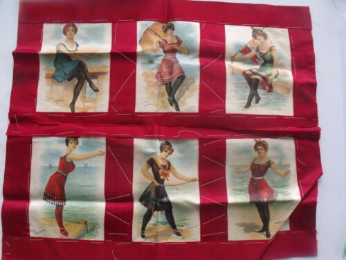 Complete Set of 6 Antique Bathing Beauty Tobacco Silks
