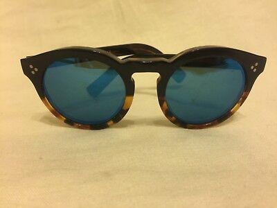 ILLESTEVA  Women's Leonard 2 Mirrored Sunglsses ,Tortoise /Blue , One Size