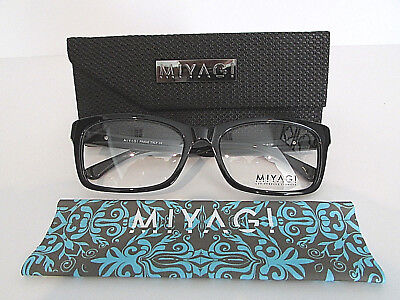 Miyagi Eyewear Los Angeles Zeus 2609 Col. 1 Shiny Black Eyeglasses Rx-Able Frame