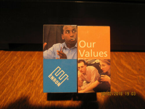 "NEW-VERY RARE--ENRON CORP ""Vision & Values"" Magic Cube"