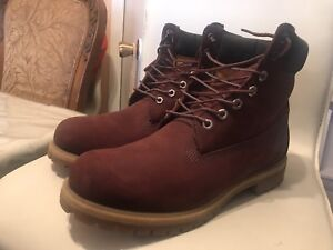 Timberland boots burgundy