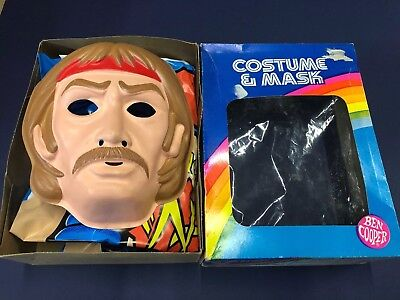 halloween mask costume 1982 CHUCK NORRIS martial arts cartoon KARATE KOMMANDO