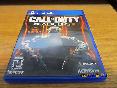 Call of Duty: Black Ops III (Sony PlayStation 4, 2015) Used (Free Shipping)