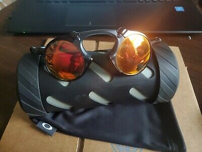 Authentic Oakley Madman Sunglasses OO6019-04 Dark Carbon Ruby Iridium Polarized