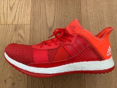 Adidas Pure Boost Mens Trainers UK9 Red Orange