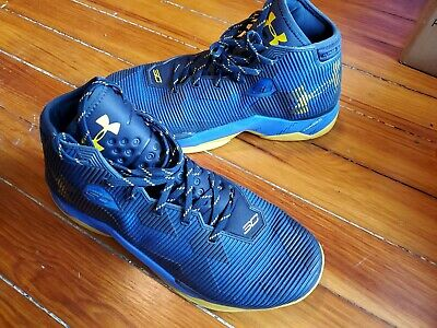 Under Armour Steph Curry 3 Men's size 12 - Blue Yellow Athletic Shoes Charged