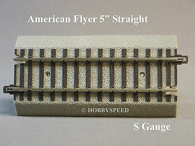 "LIONEL AMERICAN FLYER FASTRACK  5"" STRAIGHT S Gauge AF 2 rail train 6-49867 NEW"