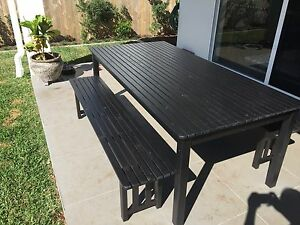 OUTDOOR BBQ TABLE + BENCH SEATS Hamilton Brisbane North East Preview