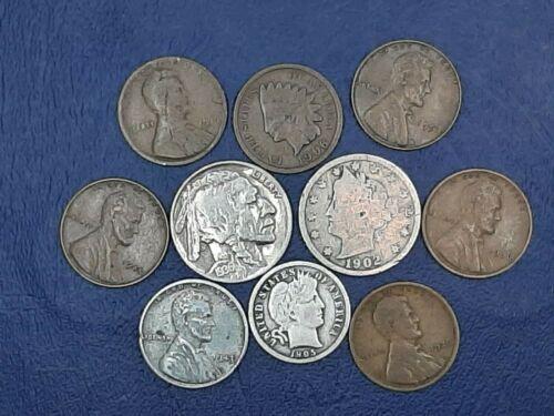 BARBER SILVER DIME STARTER COLLECTION Lot of 10 Vintage US Coins