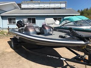 2007 NITRO 750 DC BASS FISHING BOAT & TRAILER