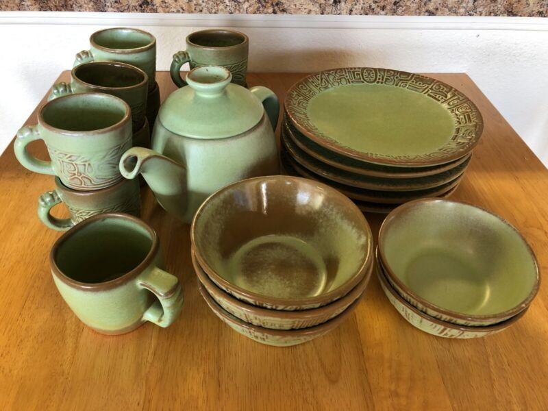 Frankoma pottery Aztec Prairie Green