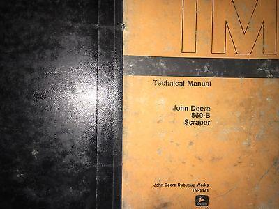 John Deere 860-b Scraper Technical Manual