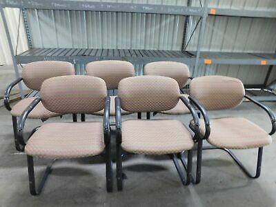 Lot Of 6 Conference Chairs Padded