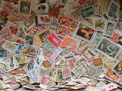1000 World Stamps - Off Paper Collection - Fantastic Sorting Mixture