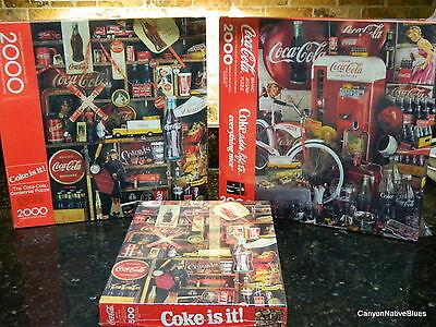Springbok SEALED Set of 3 COCA COLA COKE Jigsaw Puzzles FREE SHIPPING