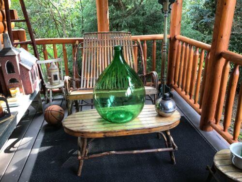 Large Antique Vintage Carboy DemiJohn green Glass Wine/Beer Bottle Jug 54 L