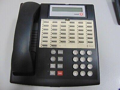 Lot of 3 AVAYA LUCENT PARTNER EURO 18D BLACK TELEPHONES w//new plastics