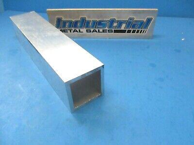 2-12 X 12-long X 14 Wall 6063 T52 Aluminum Square Tube--2.5 X .250 Wall
