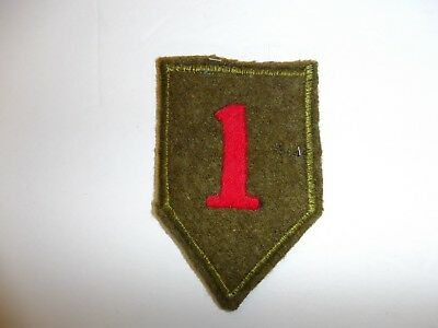 b4303 US Army 1930's-WW 2 1st  Infantry Division patch wool  Big Red 1 PA14