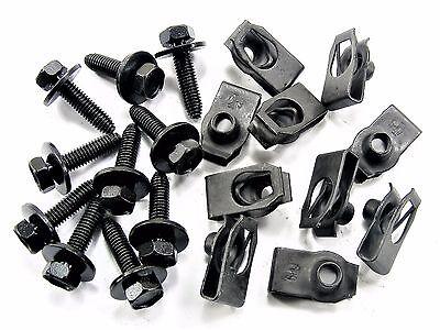 Chevy Body Bolts & U-Nuts- M6-1.0mm Thread- 10mm Hex- Qty.10 ea.- #142