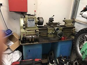 METAL LATHE HAFCO AL350 COMPLETE WITH 3& 4 JAW +STAND Blue Haven Wyong Area Preview