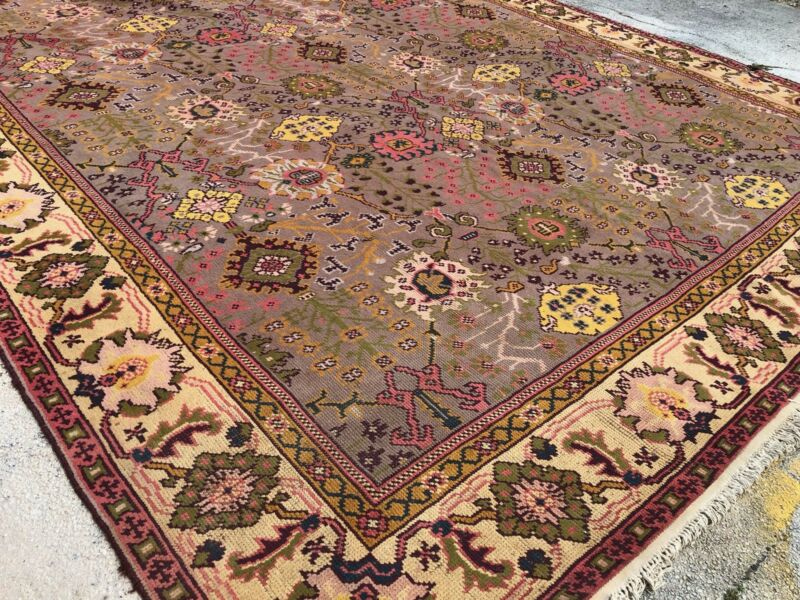 Original Oushak - 1920s Antique Anatolian Rug - Turkish Carpet - 11 X 16 Ft.