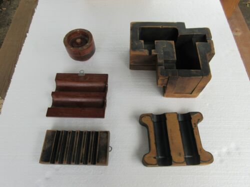 VINTAGE WOOD FORMS CAST FOUNDRY INDUSTRIAL STEAMPUNK, MOLDS, FACTORY PRIMITIVE