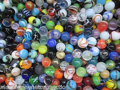 """Marbles 1 pound of special collection 5/8"""" fancy mix marbles plus Free Shipping"""