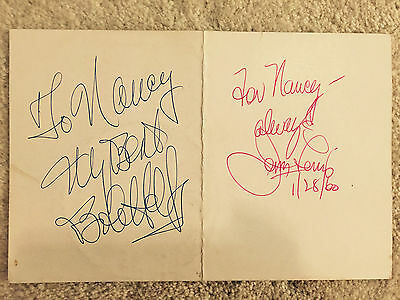 Autographes To Nancy My Best Bob Hope For Nancy Always Jerry Lewis 1/28/60