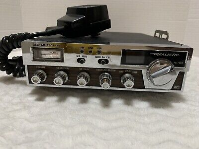 Vintage Realistic TRC-449 CB Radio AM SSB 40 Channel Tested And Works Great.