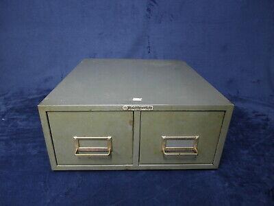 Vintage Steelmaster Metal Index File Cabinet Parts Storage