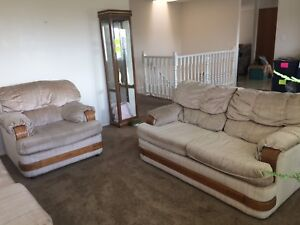 Moving sale- three piece couch set