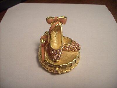 "Estee Lauder Solid Perfume Compact ""Ballet Slippers"" Original Box!"