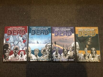 First 4 volumes of The Walking Dead comics