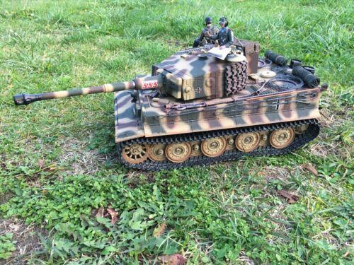 RC Panzer Tiger 1 Torro Profi Metall Edition in Holzkiste mit viel Zubehör Top