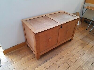 Solid oak blanket box coffer vintage antique