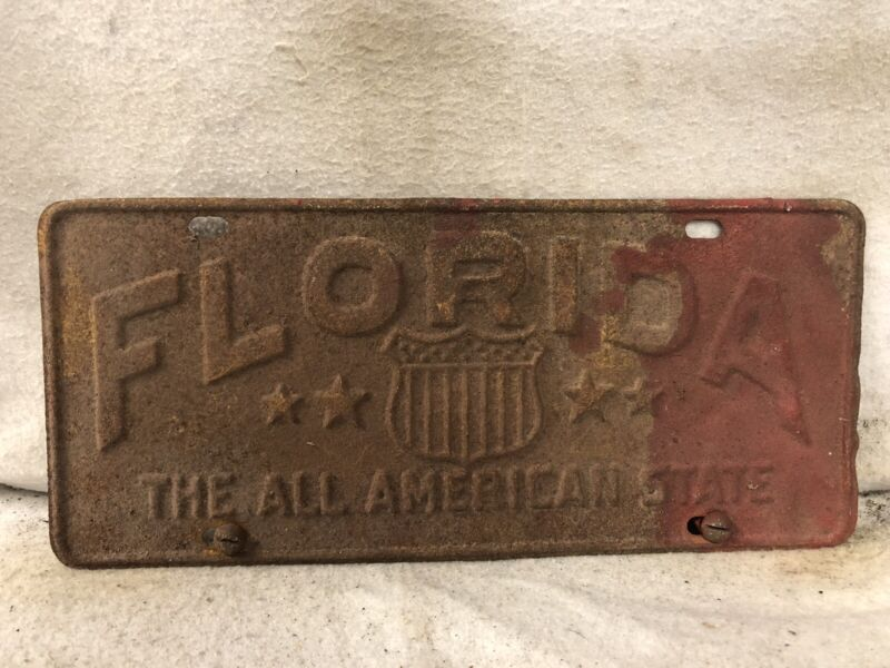 Vintage Florida The All American State License Plate